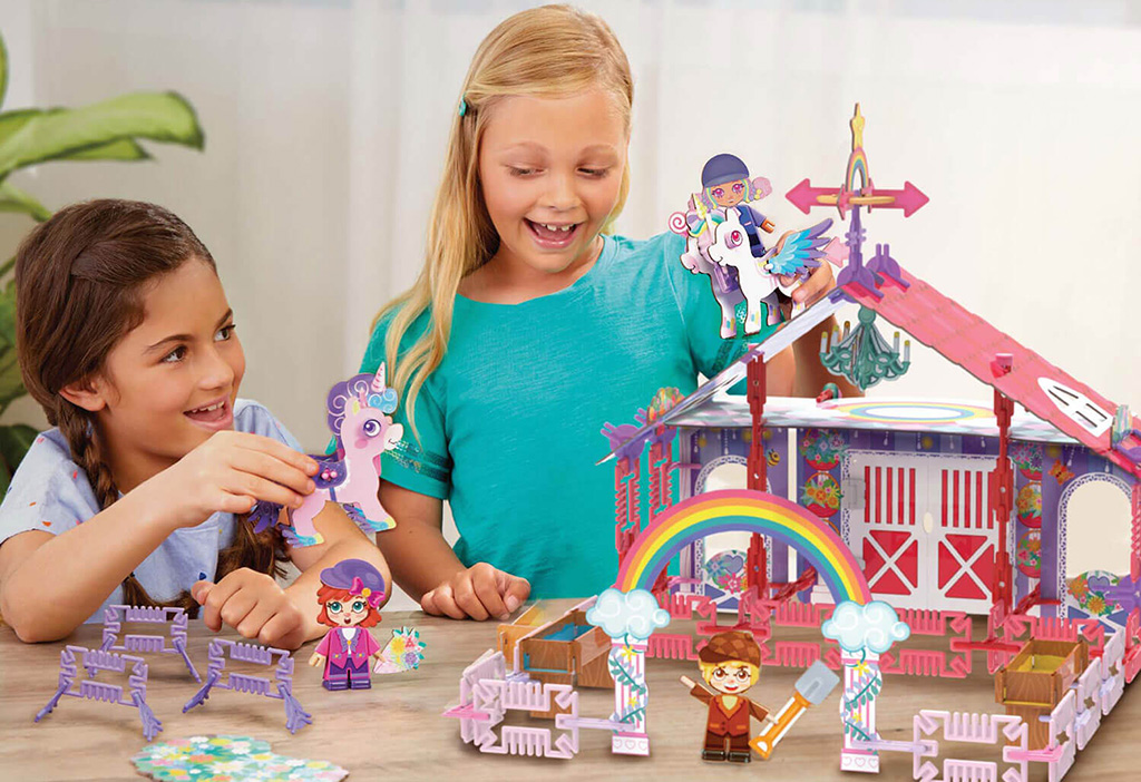 STEM toys unicorn barn